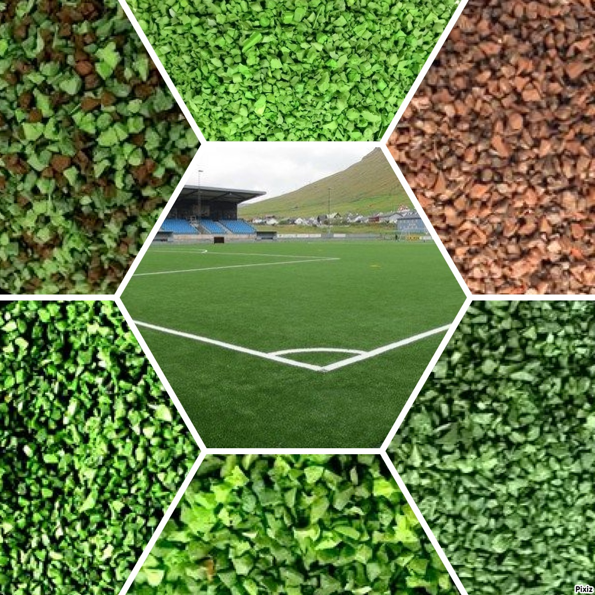 rubber infill color range for artificial grass