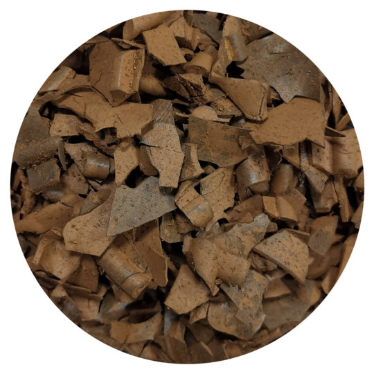 Brown bark rubber mulch