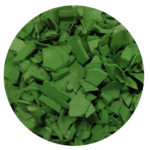 Green Rubber Mulch – Garden decorative material
