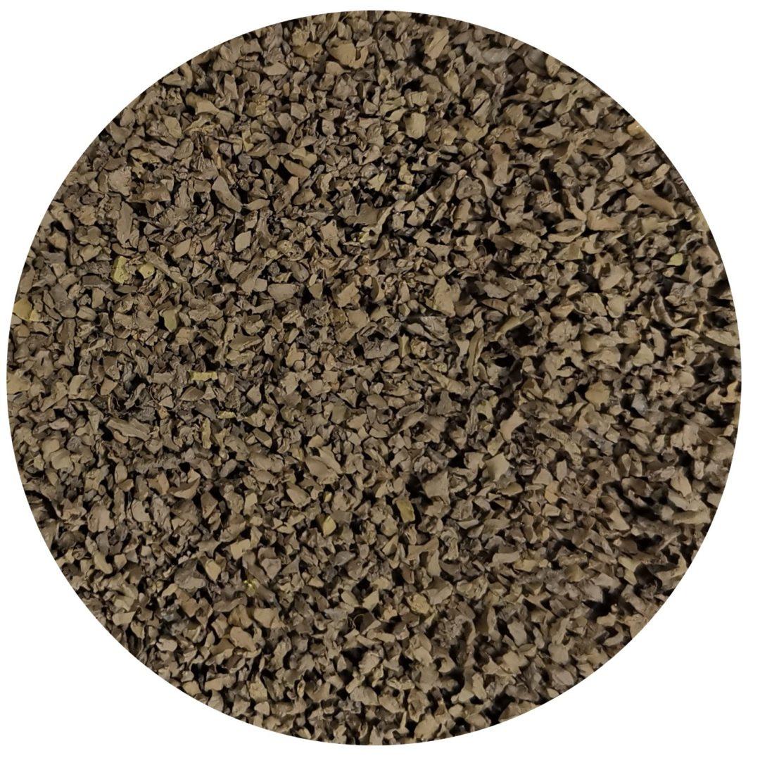 granulo di gomma colore marrone per ricarica erba sintetica