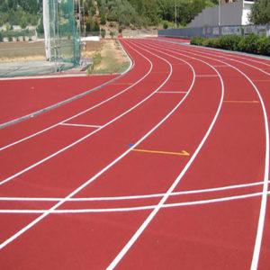 granuli rossi per pista atletica