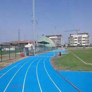 pista atletica blue con granuli runner blue
