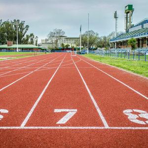 runner red il granulo colorato rosso per piste atletica
