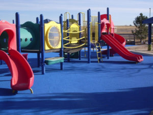 Gomma colata per parco giochi colore blue