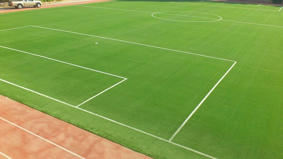 campo rigenerato con intaso verde chiaro