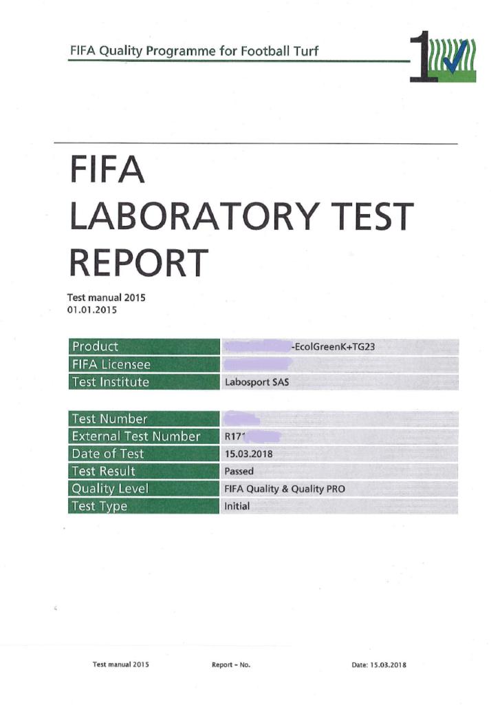 FIFA QUALITY SYSTEM