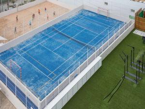 sabbia gommata blu per sintetico tennis
