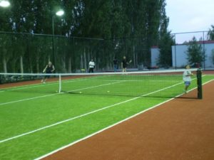 Tennis bicolore in sintetico