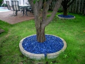 corteccia in gomma colorata blue per aiuole
