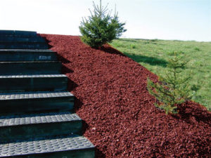 red bark rubber mulch