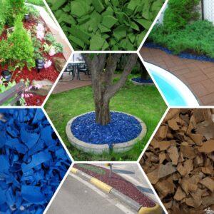 idee aiuole giardino - corteccia sintetica