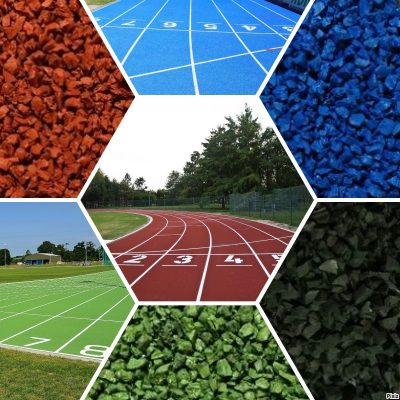 ATHLETIC TRACK gamma colori finitura gomma pista atletica