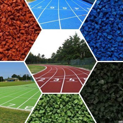 ATHLETIC TRACK gamma colori finitura gomma pista atletica