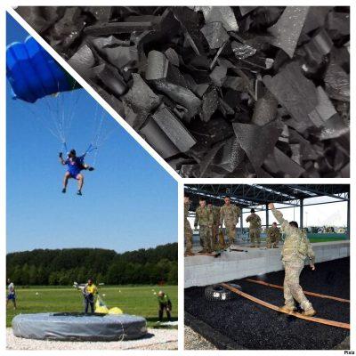 Applicazione gomma per allenamento paracadutisti